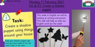 1.2.21 Art & DT: Make a shadow puppet