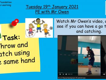 19.1.21 Physical Development: PE with Mr Owen