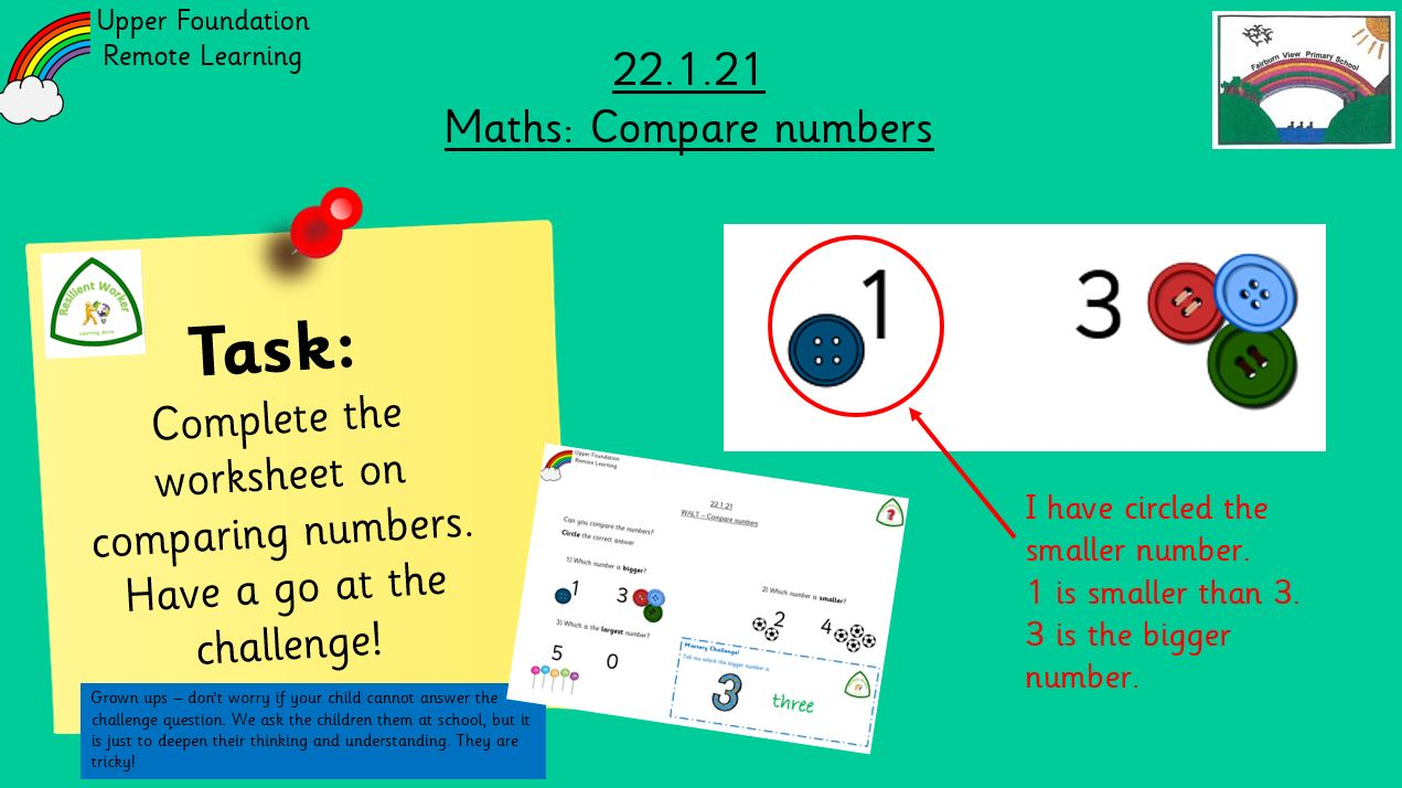 22.1.21 Maths: Compare numbers