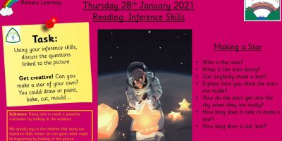 28.1.21 Reading: Inference Skills