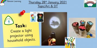 28.1.21 Topic/Art & DT: Making a projector
