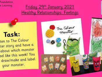 29.1.21 Personal, Social & Emotional Development: Healthy Relationships