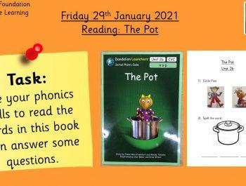 29.1.21 Reading: The Pot