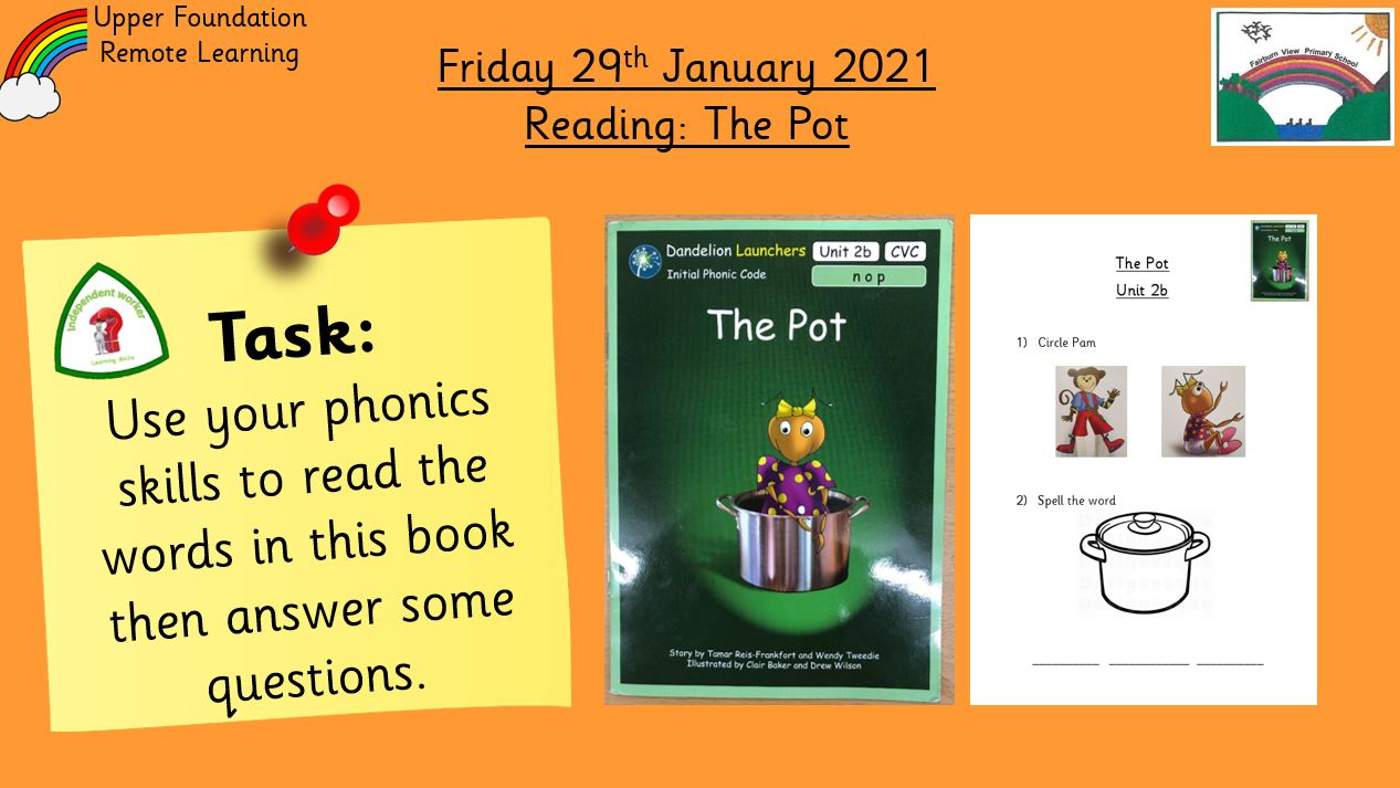 29.1.21 Reading: The Pot
