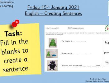 15.1.21 English: Creating Sentences