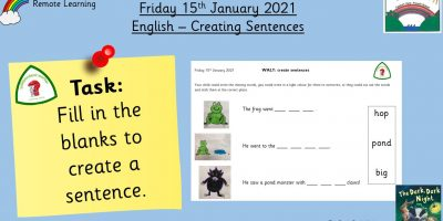 15.1.21 English: Creating Sentences
