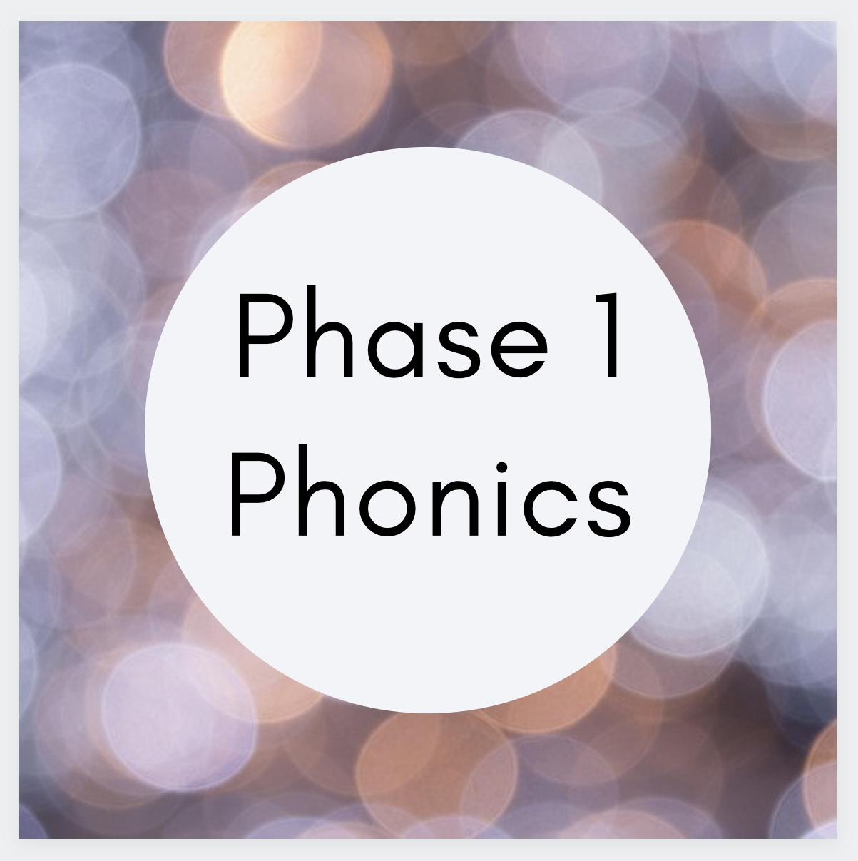Phase 1 phonics game