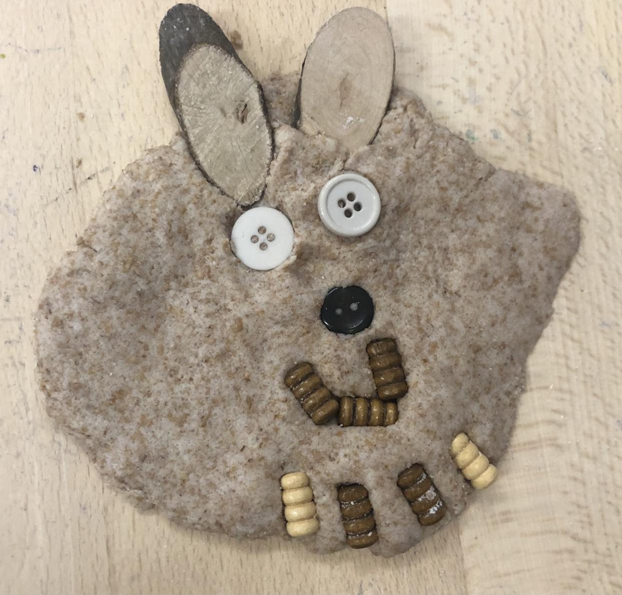 Making play-dough bears