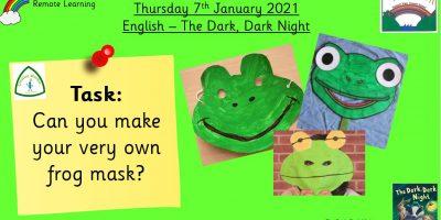 7.1.21 English: Frog Masks