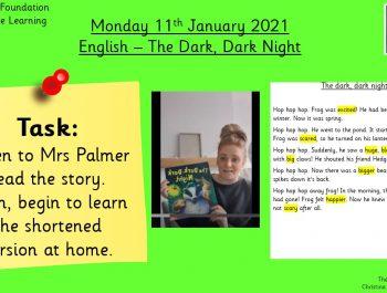 11.1.21 English: The Dark, Dark Night Story