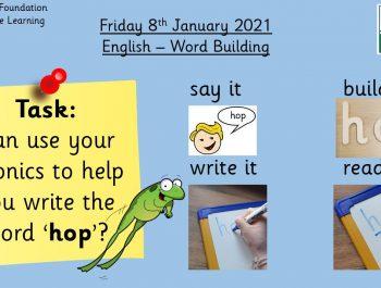 8.1.21 English: Word Building