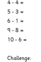 Thursday 1W maths (subtraction)