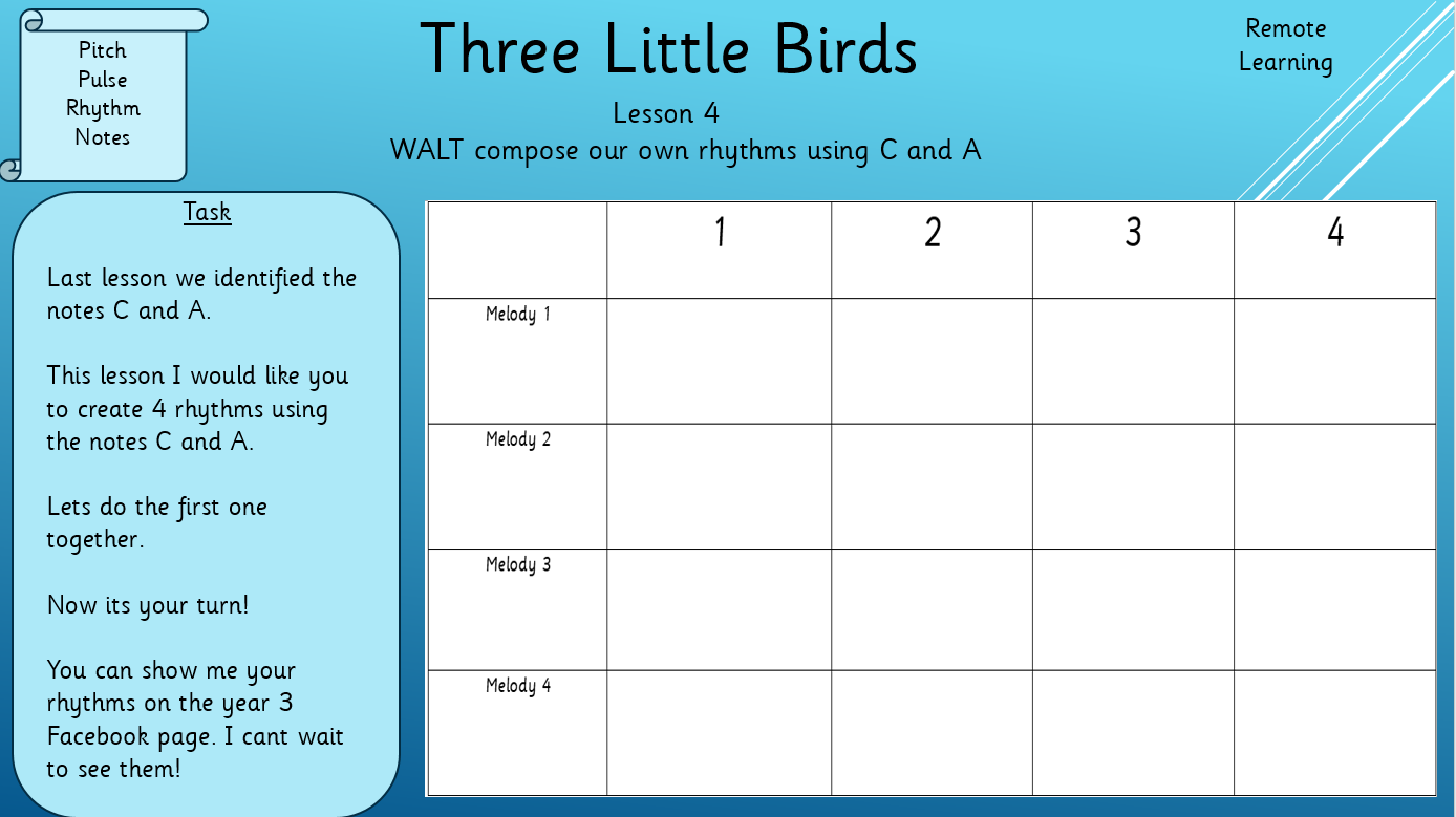 Year 3 – Lesson 4 remote learning