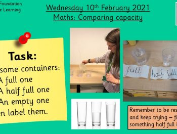 10.2.21 Maths: Comparing Capacity