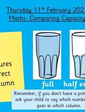 11.2.21 Maths: Comparing Capacity