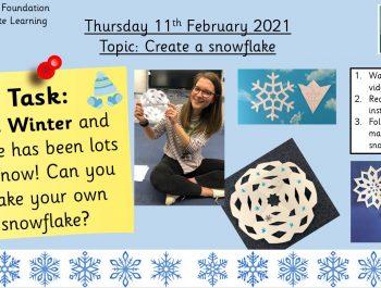 11.2.21 Topic: Make a snowflake