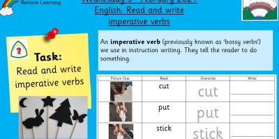 3.2.21 English: Read and write imperative verbs