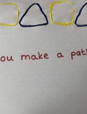 Can you make a shape pattern?