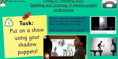 5.2.21 Speaking & Listening: A Puppet Show