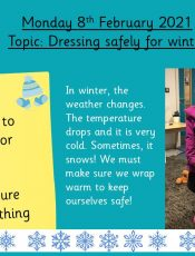 8.2.21 Knowledge & Understanding the World: Topic: Dressing for winter