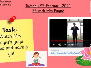 9.2.21 Physical Development: PE with Mrs Payne
