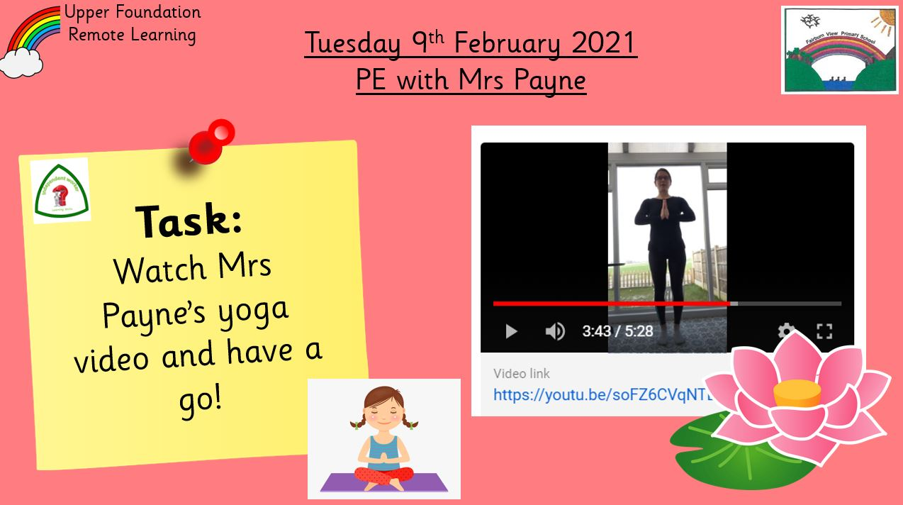 9.2.21 Physical Development: PE with Mrs Payne