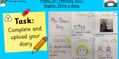 26.2.21 English: Write a diary