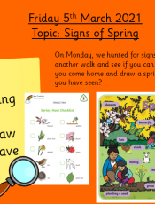 5.3.21 Knowledge & Understanding the World: Topic  – Signs of Spring