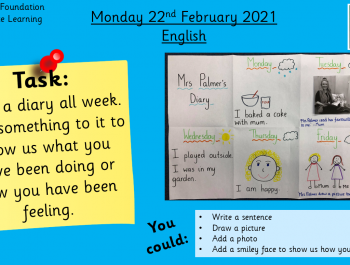 English: Writing a diary