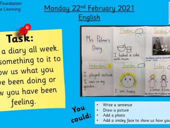 English: Writing a diary