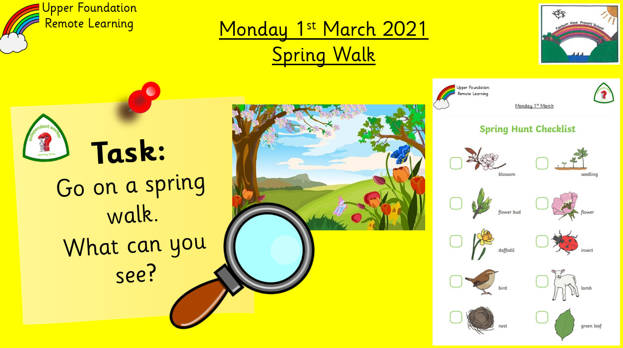 1.3.21 Knowledge & Understanding the World: Topic: Spring Walk