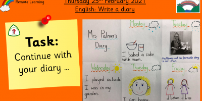 25.2.21 English: Write a Diary