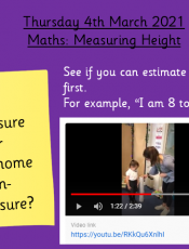 4.3.21 – Maths: Measuring Height