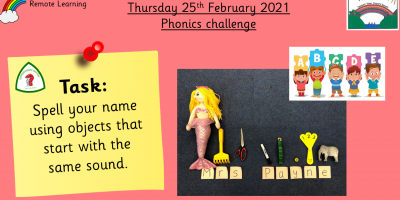 25.2.21 Phonics Challenge!