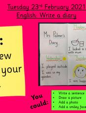 23.2.21 English: Write a diary