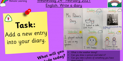 24.2.21 English: Write a Diary