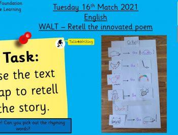 16.3.21 UFS English: Retell a poem