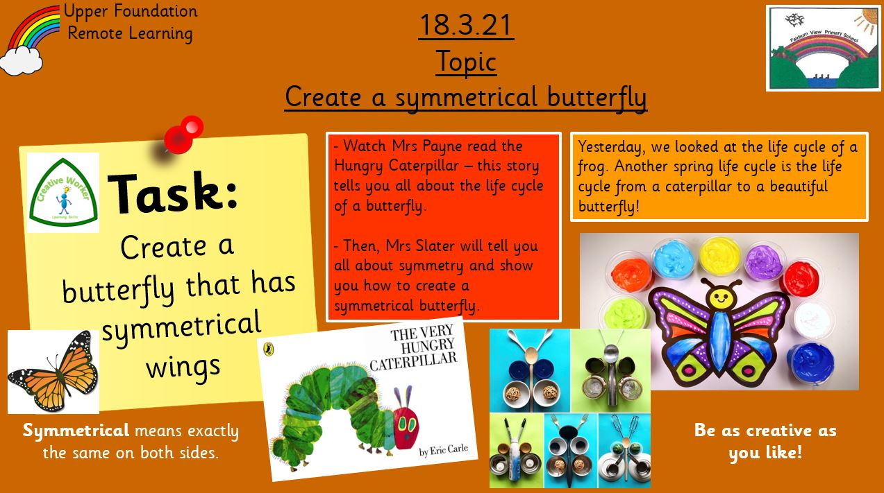 18.3.21 Knowledge & Understanding the World: Symmetrical Butterflies