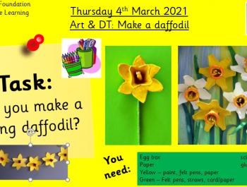 4.3.21 Creative: Art&DT: Make a daffodil