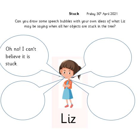 Miss Wild`s group Literacy Friday 30th April