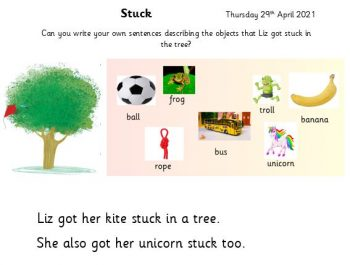 Miss Wild`s Group Literacy Thursday 29th April