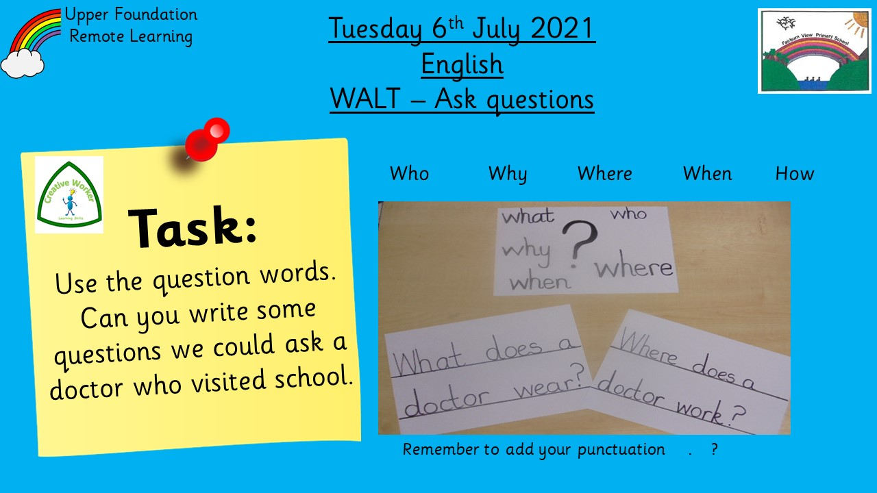 6.7.21 UFS English: Using question words