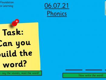 6.7.21 UFS Phonics